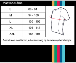 Maatlabel Wielershirt Rainbow Team Jersey